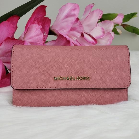 Michael Kors Handbags - 🌺NWT Michael Kors LG Trifold Wallet Rose pink MK